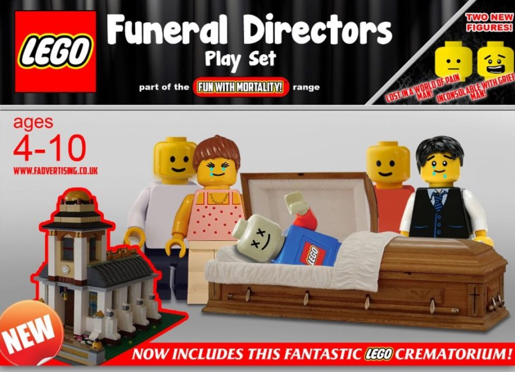 FUNERAL LEGO HELPS CHILDREN LEARN ABOUT DEATH