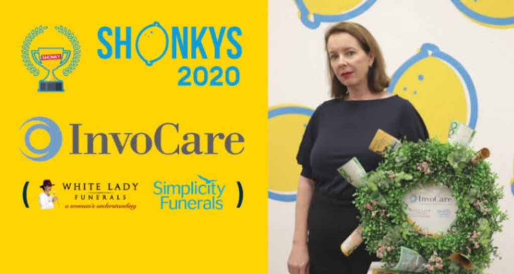 CHOICE HANDS SHONKY AWARDS TO INVOCARE FUNERALS